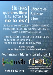Afiche Conferencia SW Libre 4
